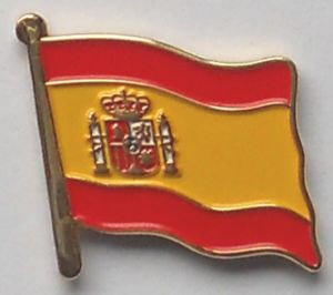 Spain Country Flag Enamel Pin Badge